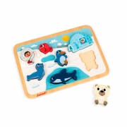 Puzzle Encajable Polo Norte