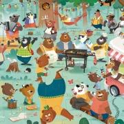 Puzzle Familia de Osos: 54 piezas