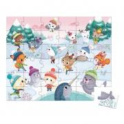 Puzzle Fiesta en la Nieve: 36 piezas