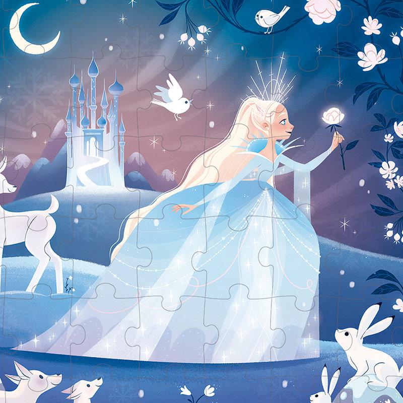 Puzzle la Magia de los Hielos: 54 piezas