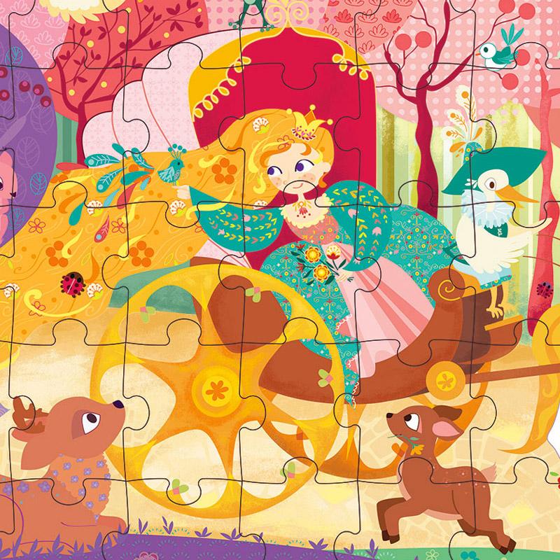 Puzzle La Princesa y su Carroza: 54 piezas