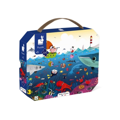 Puzzle Mundo Submarino: 100 piezas