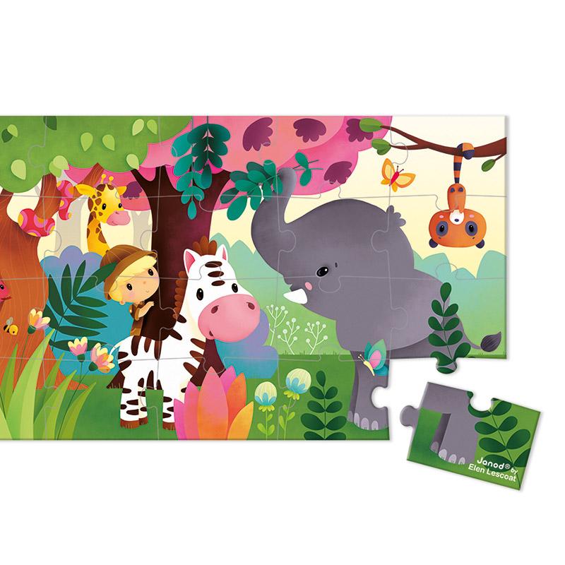 Puzzle Panorámico Selva: 36 piezas