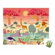 Puzzle Reserva de Animales: 54 piezas