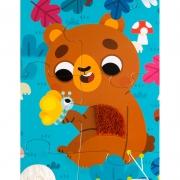 Puzzle Táctil Gigante Animales del Bosque: 20 piezas