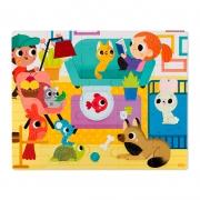 Puzzle Táctil Gigante Animales Domésticos: 20 piezas