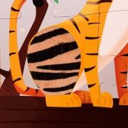 Puzzle Táctil Gigante en el Zoo: 20 piezas