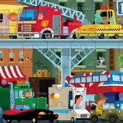 Puzzle Vehículos: 100 piezas