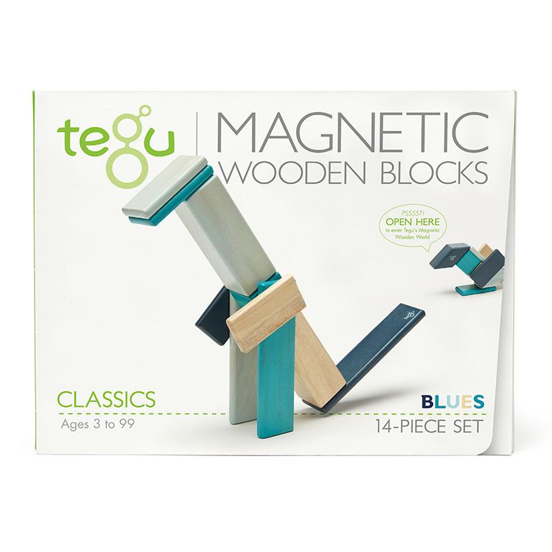 Set de 14 Bloques Magnéticos: Blues
