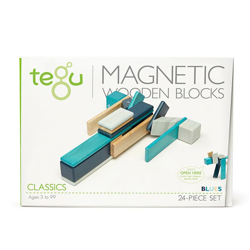 Set de 24 Bloques Magnéticos: Blues