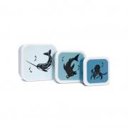 Set de 3 Fiambreras Sea Animals Azul