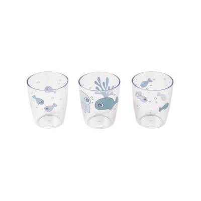 Set de 3 Mini Vasos Sea Friends Azul