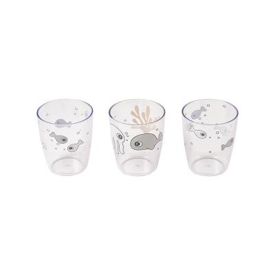 Set de 3 Mini Vasos Sea Friends Gris