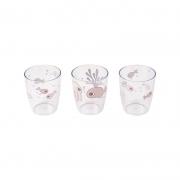 Set de 3 Mini Vasos Sea Friends Rosa