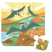 Set de 4 Puzzles Evolutivos: Dinosaurios