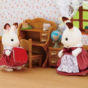 Set Hermana Conejo Chocolate con Escritorio