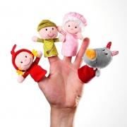 Set Marionetas de Dedo: Caperucita Roja