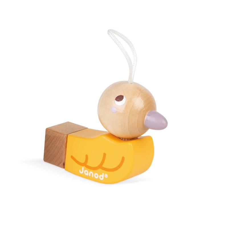 Silbato Pájaro Amarillo Janod Pocket