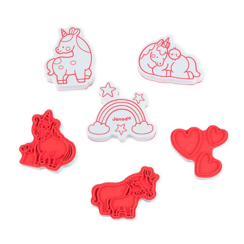 Stampinoo Set de 15 Tampones Unicornios