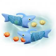 Tiburones atrapa Peces