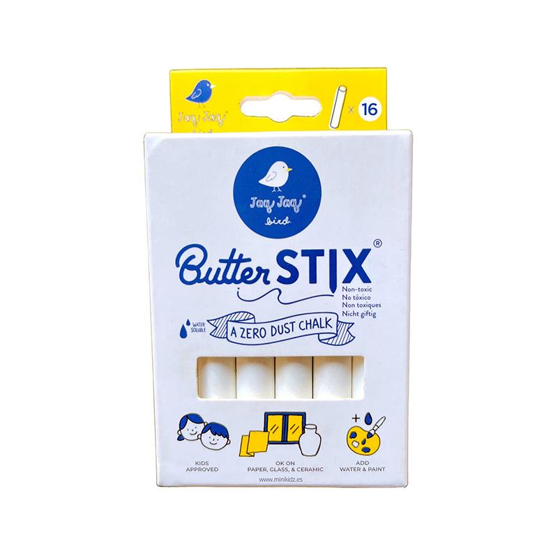16 Tizas Blancas ButterStix