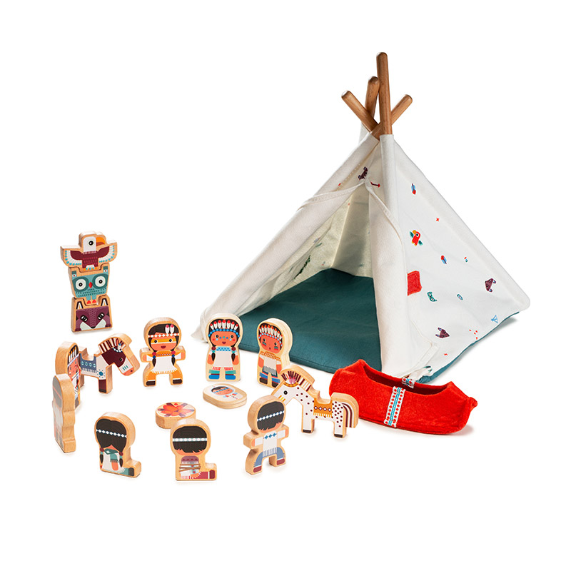 Tribu de indios con Tipi