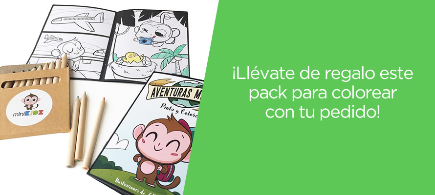 Pack para colorear MiniKidz